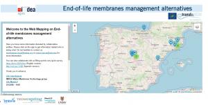 Webmapping alternativas de gestión de membranas
