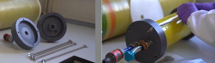 Novedoso portamembranas para la recuperación de membranas de ósmosis inversa de manera eficiente y sostenible